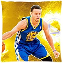 Generic Stephen Curry Retro Pillow Slip Custom Pillow Case Cover Zippered Pillow Case 16x16(two sides)