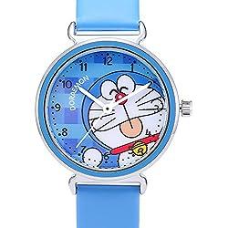 HK Reloj Infantil de Cuarzo Resistente al Agua Doraemon,Azul Real