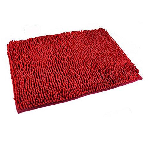 EBASE rot Waschbar Matten Badezimmer Neue Shaggy Teppiche nicht Beleg Badematte Dick Shag Pile