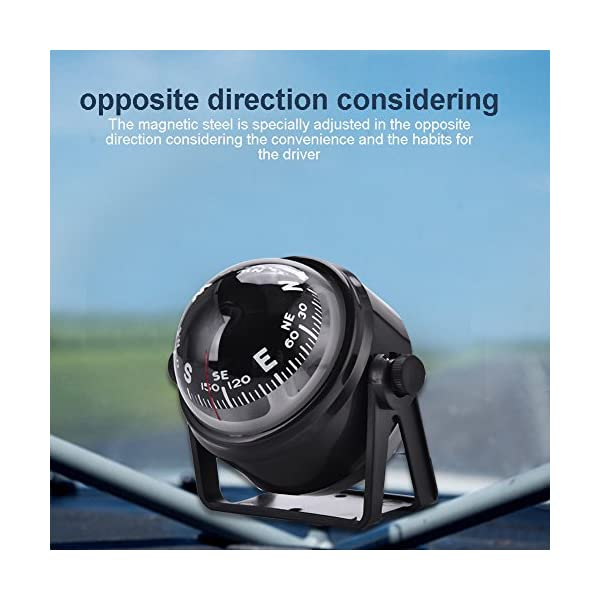 Dilwe Boat Compass, Black Electronic Adjustable Compass for Boat Night Vision 7