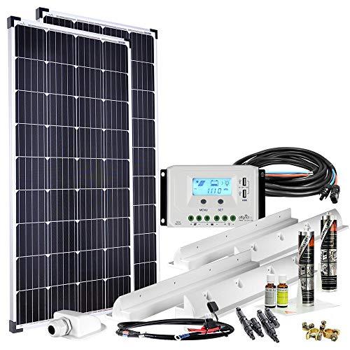 Offgridtec Premium-XL 300W 12V Wohnmobil Solaranlage 010960 mit 30A Laderegler und LCD Display