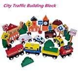 Wooden Cars Mini Vehicle Toy Set Wooden Toy Train Collection for Toddler Boys