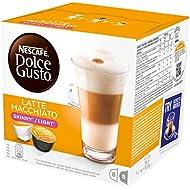 NESCAFÉ Dolce Gusto Skinny Latte Machiato, Pack of 3 (Total 48 Capsules, 24 Servings)