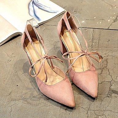 Zormey Damen Sandalen Komfort Im Sommer Pu Outdoor Niedrigem Absatz Rot Rosa Gelb Grau Schwarz US5.5 / EU36 / UK3.5 / CN35