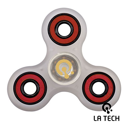 LA-TECH-Fidget-Spinner-Stress-Reducer-Toy-Perfect-For-ADD-ADHD-Anxiety-and-Autism-Adult-Kids-R-Clear