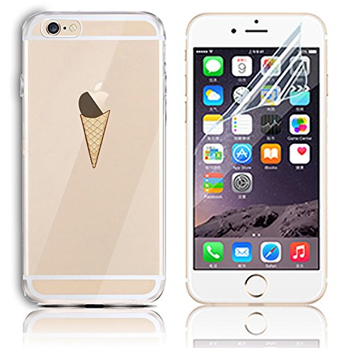 Coque iPhone 6s, Coque iPhone 6 6s Transparent Etui Housse de Protection TPU Silicone Gel Souple Clair Crystal Case Cover Sunroyal® Ultra Mince Premium Telephone Portable Skin Hybrid Clear Bumper [Abs Motif 20