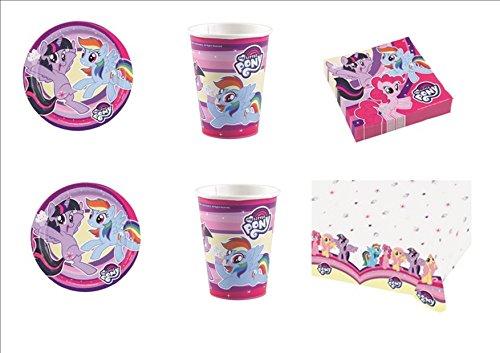 CDC - Kit N ° 9 Fête et Party My Little Pony- l'amitié est Magique - 32 (32 assiettes, verres, 40 serviettes, 1 nappe)