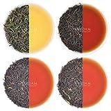 Oolong Tee Blätter-Sampler - 5 TEES, 25 Portionen | OOLONG TEE FÜR GEWICHTSVERLUST | 5 Köstlicher Oolong-Tee Loose Leaf | 100% natürlicher Schlankheits-Tee, Gewichtsverlust-Tee, Detox-Tee