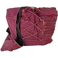 Vishes Stonewash Yogitasche aus Baumwolle mit Stickereien