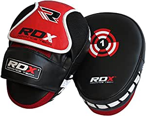 RDX Boxing Hook & Jab Pads MMA Thai Strike Kick Shield Training Punching Focus Mitts Target