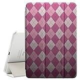 FJCases Argyle Muster (Hellrosa) Smart Cover Tablet-Schutzhülle Hülle Tasche + Auto aufwachen / Schlaf Funktion für Apple iPad Mini 4