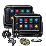 XTRONS® 5,1x 22,9cm Paar Touch Bildschirm Auto Auto Kopfstütze DVD-Player Spiel 1080P Video eingebauten HDMI Port Kopfhörer enthalten