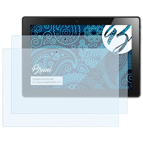 Bruni Schutzfolie für Lenovo IdeaPad Miix 310 Folie, glasklare Displayschutzfolie (2X)