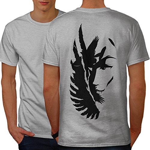 wellcoda Flügel Abstrakt Kunst Mode Adler Flug Männer L Ringer T-Shirt (Ringer Flügel)
