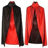 Chiguo Halloween Wicca Capa de Tippet Cosplay Disfraz Vampiro Medieval Mantón Robe para Mujeres Hombres Fiesta Disfraces para de adultos Halloween Tela de Doble Capa