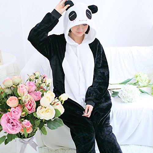 MH-RITA Rosa Einhorn Schlafanzüge Sets Flanell Schlafanzug Nachthemd Winter Stitch Schlafanzüge für Frauen Erwachsene Nachtwäsche Winter Night - Anzug set Schlafanzug, Panda, (Erwachsenen Panda Anzug)