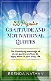 #10: 100 Popular Gratitude and Motivational Quotes: The Underlying meanings of these quotes and how to apply them in your daily life