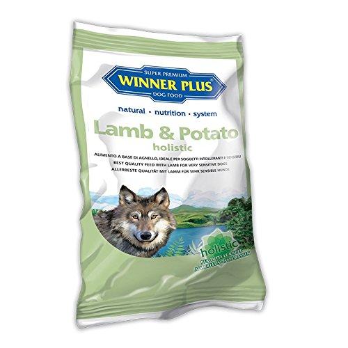 WINNER PLUS Lamb & Potato holistic 150 g - Alimento completo senza glutine e cereali, facilmente digeribile, per cani sensibili o con allergie e intolleranze alla carne - ideale anche per cani anziani o in sovrappeso