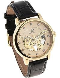 Baoblaze Reloj de Pulsera Bezel Mecánico Imitación Manual de Hombre Hueco Época Productos para ...