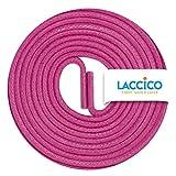 LACCICO Finest Waxed Laces® Durchmesser 2 mm Runde Dünne Elegante Gewachste Schnürsenkel Farbe: Magenta Länge: 150 cm