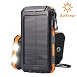 Best Solar Phone Chargers - Soluser 10000mAh Portable Solar Charger External Backup Battery Review