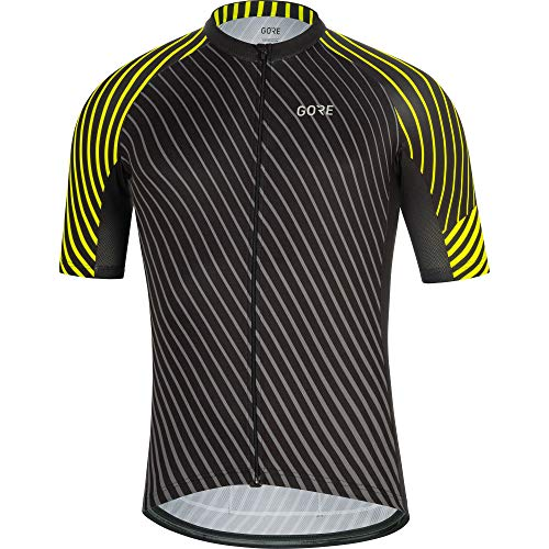 Gore Wear Herren GORE C3 Trikot D Black/Neon Yellow, M -