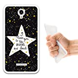 Coolpad Modena Hülle, WoowCase Handyhülle Silikon für [ Coolpad Modena ] Star Satz - I Love You To The Moon And Back Handytasche Handy Cover Case Schutzhülle Flexible TPU - Transparent
