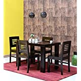 143cfebd830 Js Home Decor Sheesham Wood 4 Seater Dining Table Set with 4 Chairs for Home  Warm