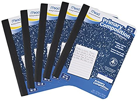 Mead Composition Book, Primary, Grades K-2, 100 Wide-Ruled Sheets, 9.75