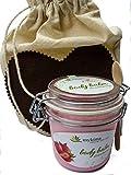 mykima Kiss of Nature Body Balm Erdbeere | Frisch, fruchtiger Feuchtigkeitsspender mit Joghurtextrakt, Jojoba und Olivenöl sowie Vitamin E 200ml