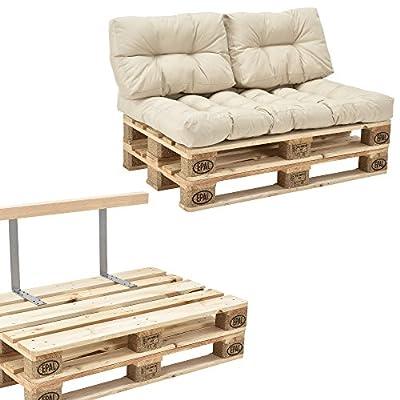 [en.casa] Palettensofa-Set 2 x Europaletten - 1 x Sitzauflage - 2 x Rückenkissen - 1 x Rückenlehne von [en.casa] bei Gartenmöbel von Du und Dein Garten