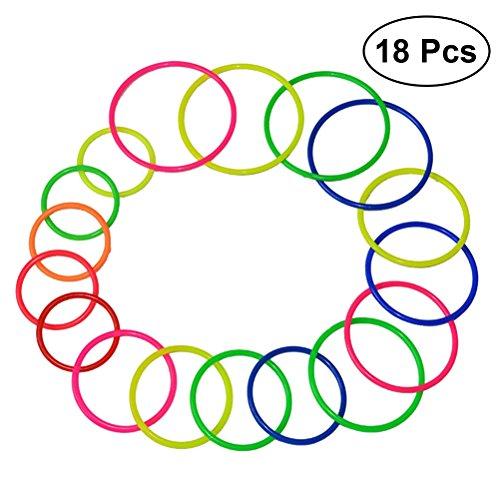 Kunststoff Toss Ringe Spielzeug Kinder Ring Toss Spiel für Karneval Garten Hinterhof Outdoor-spiele (Zufällige Farbe) ()