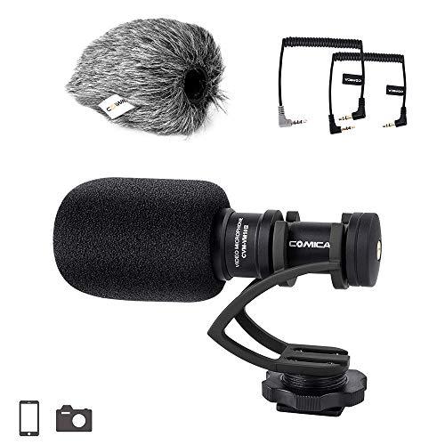 Comica CVM-VM10 II Compact on Kamera Mikrofon Vollmetall Kardioid Richtmikrofon Externes Mini Shotgun Video mikrofon für Canon Sony Nikon Panasonic Smartphones (Schwarz)