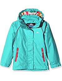 Trespass Kids Lunaria Waterproof Rain/Outdoor Jacket with Removable Hood and Reflective Details