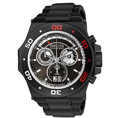 Invicta Men's Akula Black Steel Bracelet & Case Swiss Quartz Watch 26049