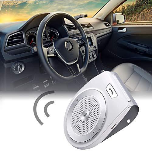 WooyMo Kabelloser Lautsprecher, Kfz-Freisprecheinrichtung Bluetooth 4.1 Auto EIN Aus Kfz-Freisprecheinrichtung Motion Sun Visor Audio-Empfänger-Adapter Mit DSP-Lautsprecher HD-Sound Parrot Hands Free