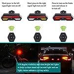 Luce-Posteriore-per-Bici-Ricaricabile-USB-AccensioneSpegnimento-Automatico-Rilevamento-dei-Freni-Luci-a-LED-ad-Alta-Intensit-per-Biciclette-Rosse-Adatte-a-Qualsiasi-Bici-da-Strada