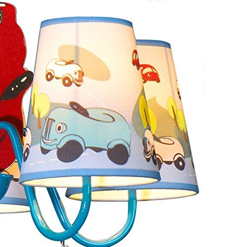 Jungen Cartoon Auto Schlafzimmer Kronleuchter Lampe Mediterraner Kid 's Room Anhänger Leuchten Kinder Pendelleuchte - 7