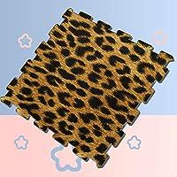 "WOCNEMP Close Up Leopard Spot Pattern Texture Interlocking Tile Foam Puzzles Play Mat Soft Protection Mats,36 Tiles,12""x12"" Interlock Foam Tiles"