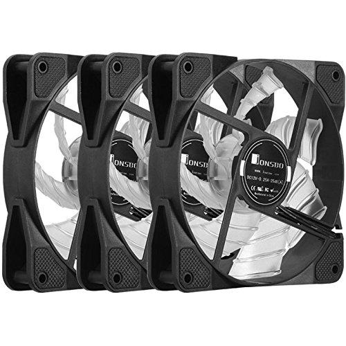 Jonsbo FR 531(RGB)-set da  pezzi, 120mm RGB Ventola di raffreddamento, max. 1.300giri/min, max. 25,6DB (a), max. 72,4m³/h, Controller, schede di apertura