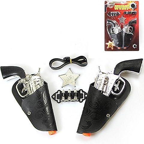HK Toys 7 Pc Cowboy SHERIFF GUN PLAY SET -2