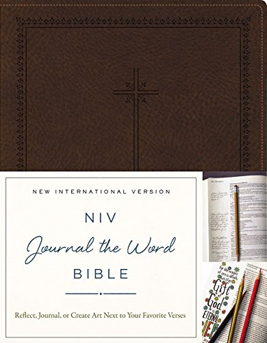 NIV, Journal the Word Bible, Imitation Leather, Brown: Reflect, Journal, or Create Art Next to Your Favorite Verses (Cover Niv Bibel)