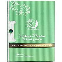 Tè Verde Olio naturale Tessuto assorbente–100pz, Premium viso olio carta