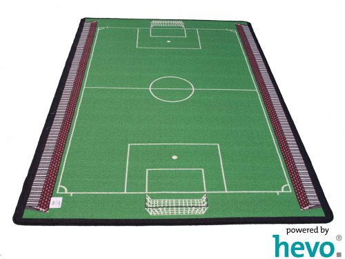 Fussball HEVO ® Teppich | Spielteppich | Kinderteppich 135x200 cm Oeko-Tex 100