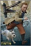 Die Abenteuer von Tim und Struppi Poster (93x62 cm) gerahmt in: Rahmen silber
