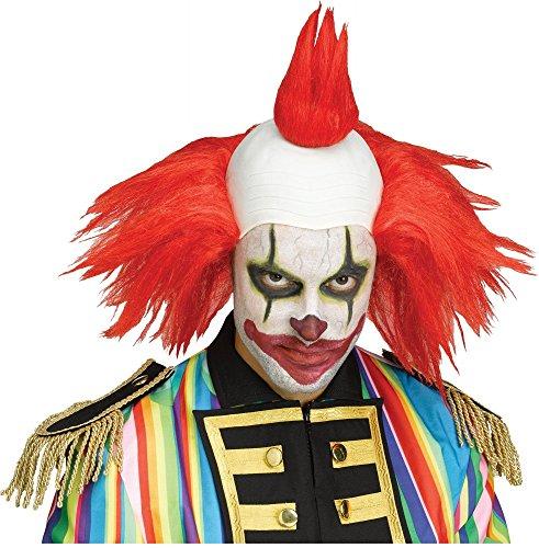 shoperama Clown Perücke mit Glatze und bunten Haaren Horror Killer verrückter Evil Zirkus Freak Show, ()