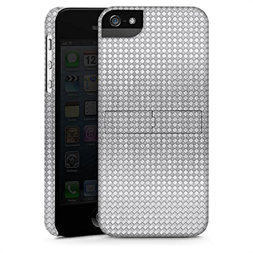 Apple iPhone 5s Housse Étui Protection Coque Argent Motif Motif CasStandup blanc