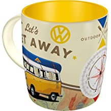 Nostalgic-Art 43032, Volkswagen VW Bulli-Let's Get Away, Tasse Taza, Cerámica, Carbón, 8.5 x 13 x 9 cm