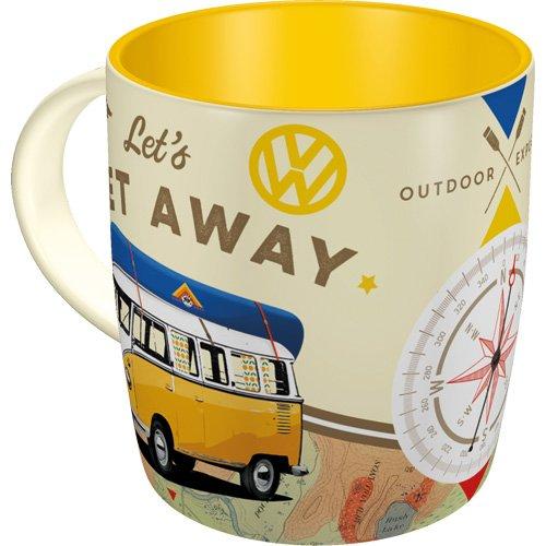 Nostalgic-Art 43032 Volkswagen - VW Bulli - Let's Get Away!, Tasse