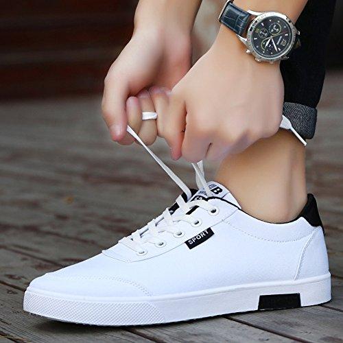 HUAN Chaussures de toile Chaussures de toile pour hommes Chaussures décontractées Baskets basses Chaussures de course confortables et respirantes A